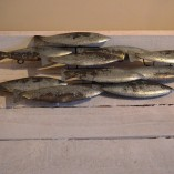Metal School Of Fish Wall Art