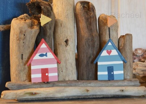 Double Beach Huts On Driftwood 1