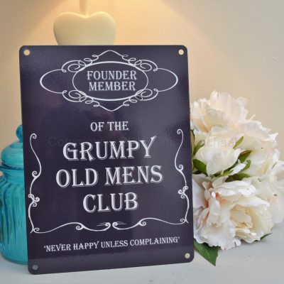 Grumpy Old Men's Club Metal Sign