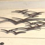 Brown Metal Seagulls In Flight Wall Art 2