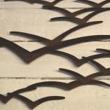 Brown Metal Seagulls In Flight Wall Art 3