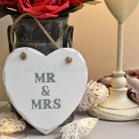 Mr & Mrs Heart Shaped Plaque