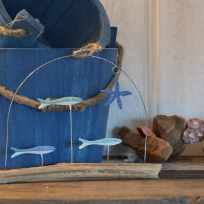 Three Fish On Driftwood