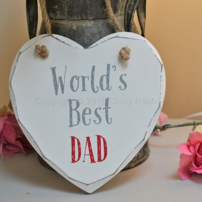 World's Best Dad Heart Plaque