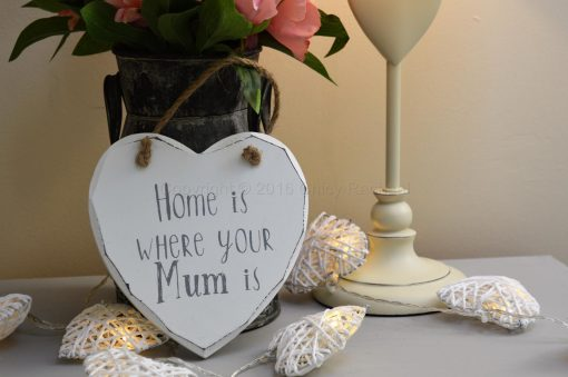 Home Is Where Your Mum Is Heart Plaque
