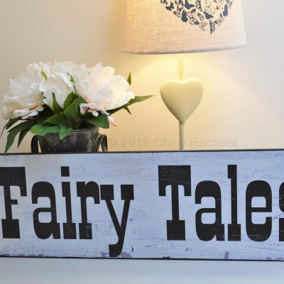Fairy Tale Wooden Sign
