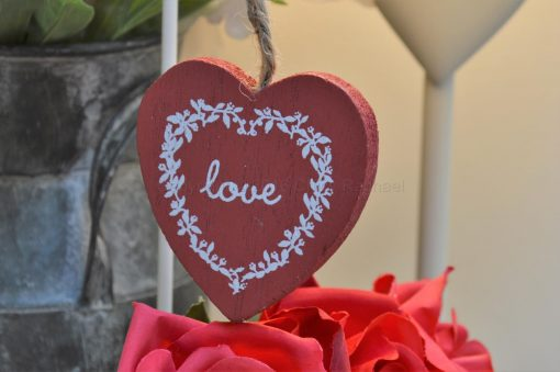 Red Love Hanging Heart