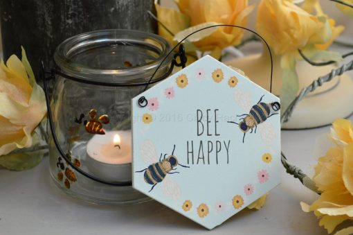 Bee Happy Mini Sign