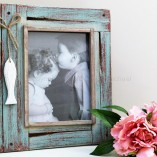 Distressed Green Fish picture Frame 1
