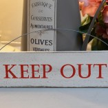 Keep Out Mini Door Sign