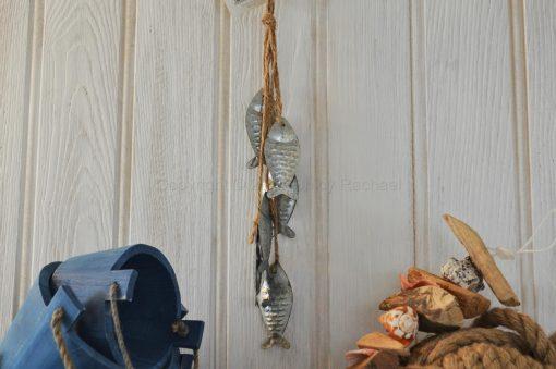 Six Silver Hanging Fish