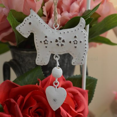Hanging Metal Scottie Dog Decoration