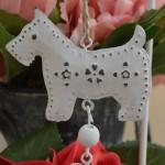 Hanging Metal Scottie Dog Decoration