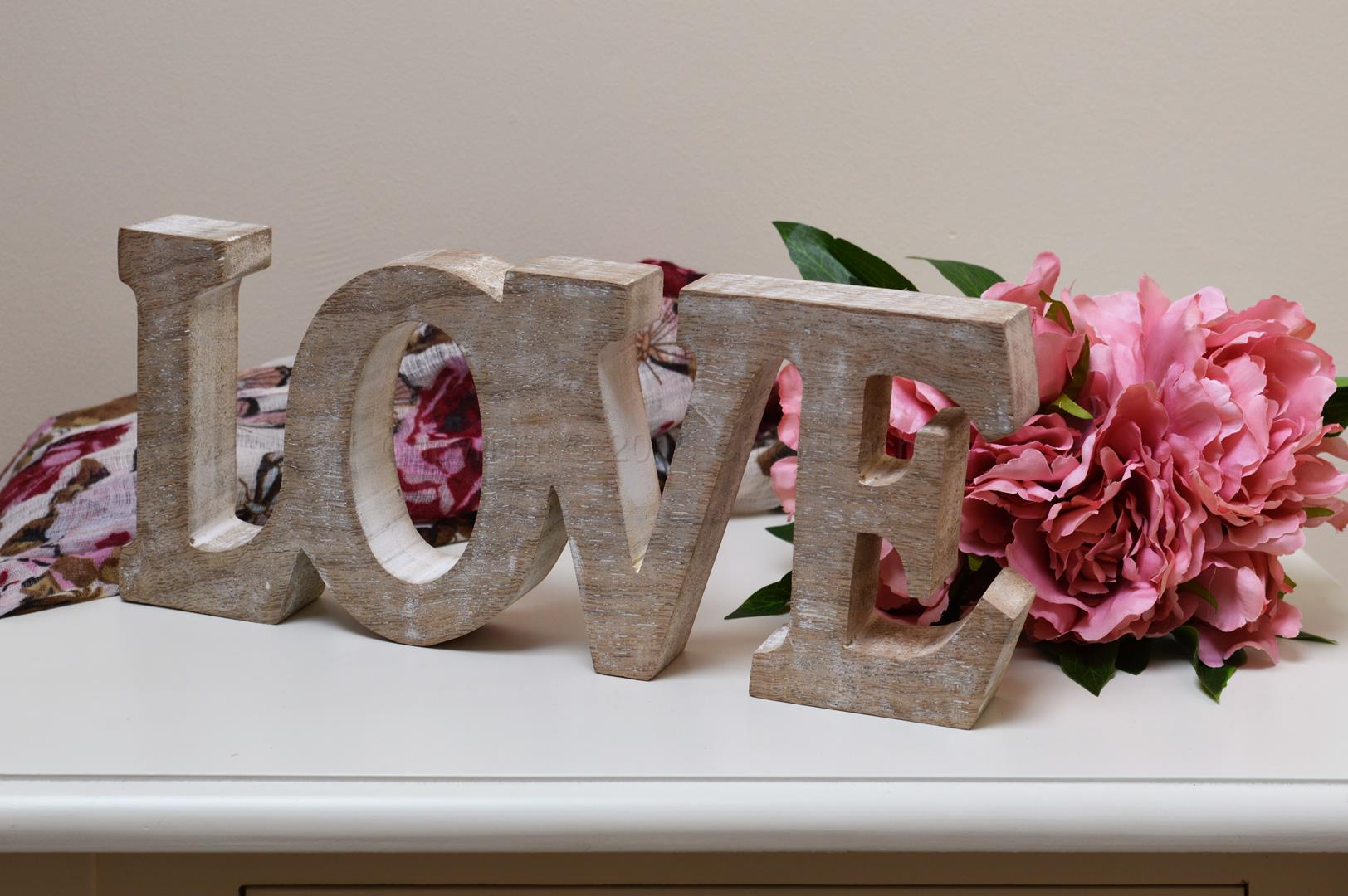 Wooden Love Letters Cut Out Chicy Rachael
