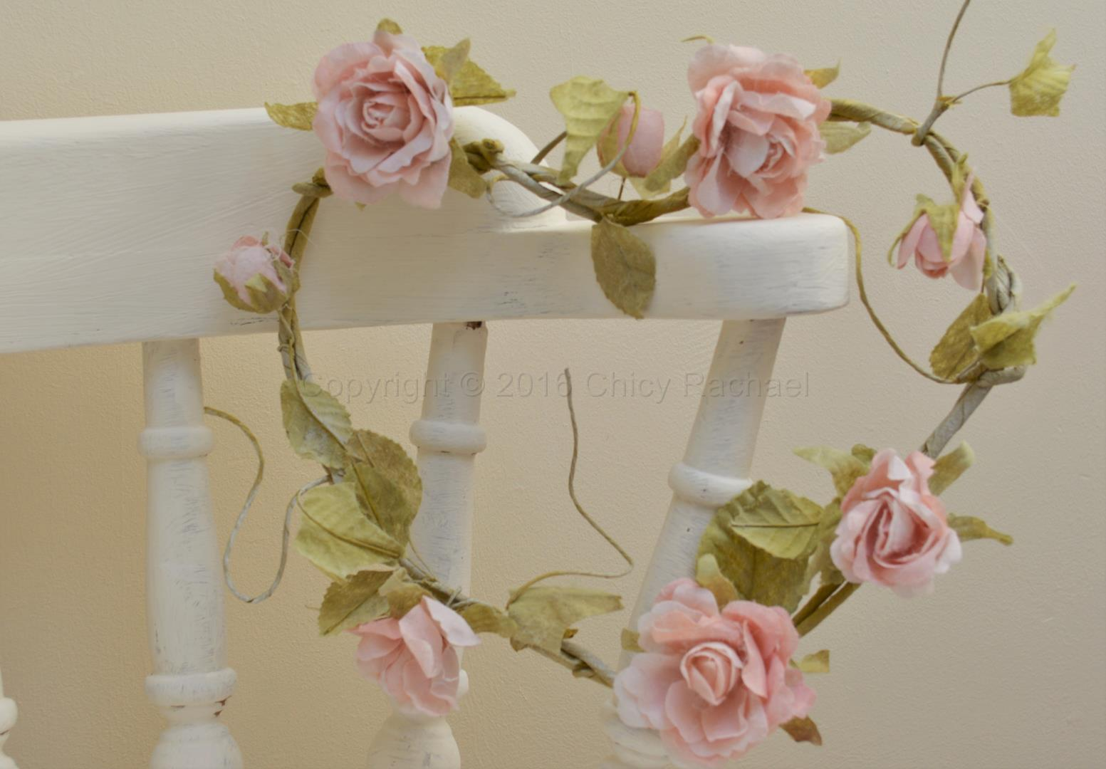 Pink Rose Heart Shaped Garland Chicy Rachael