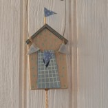 Hanging Beach Hut And Fish Decoration