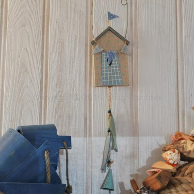 Hanging Beach Hut And Fish Decoration