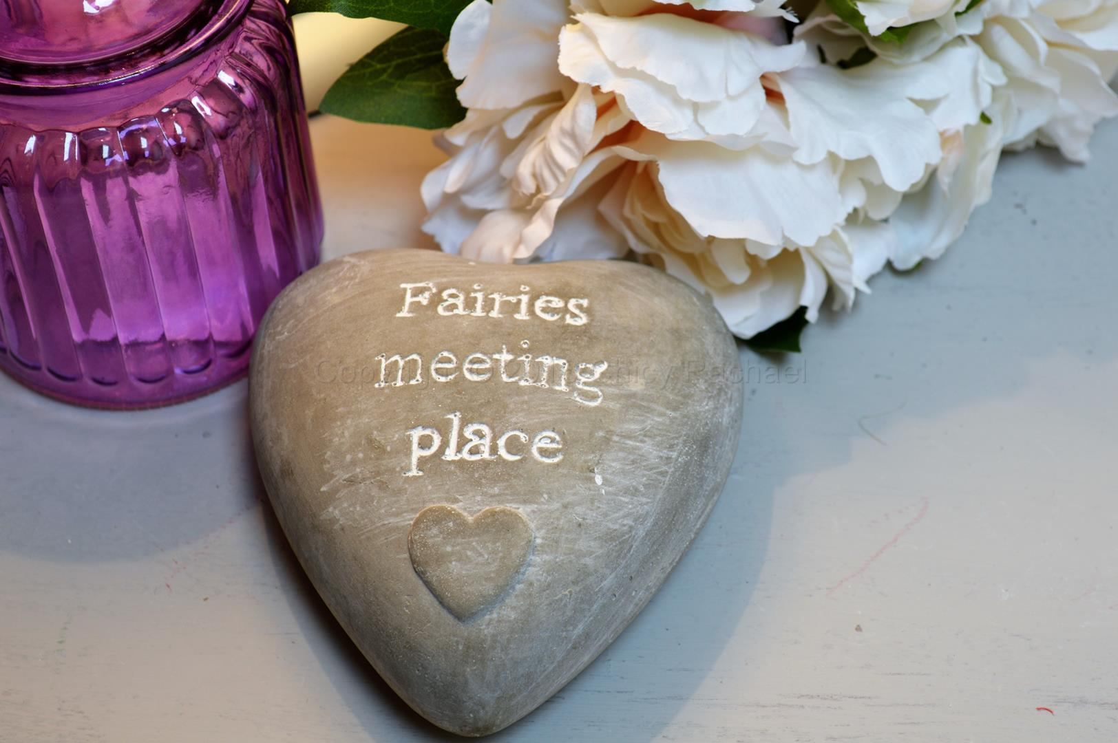 Fairies Meeting Place Heart Pebble