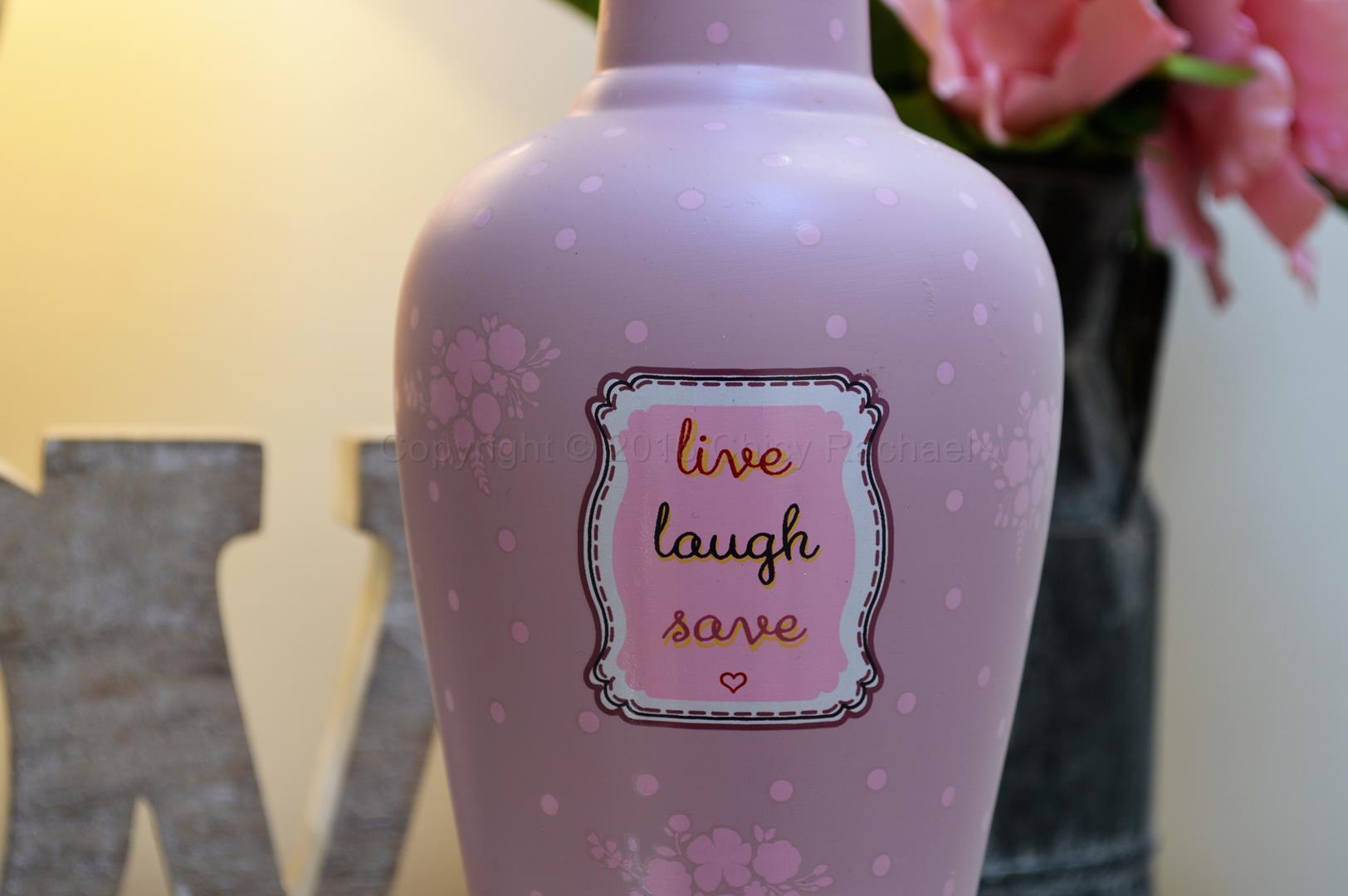 Live Laugh Save Savings Bottle 1