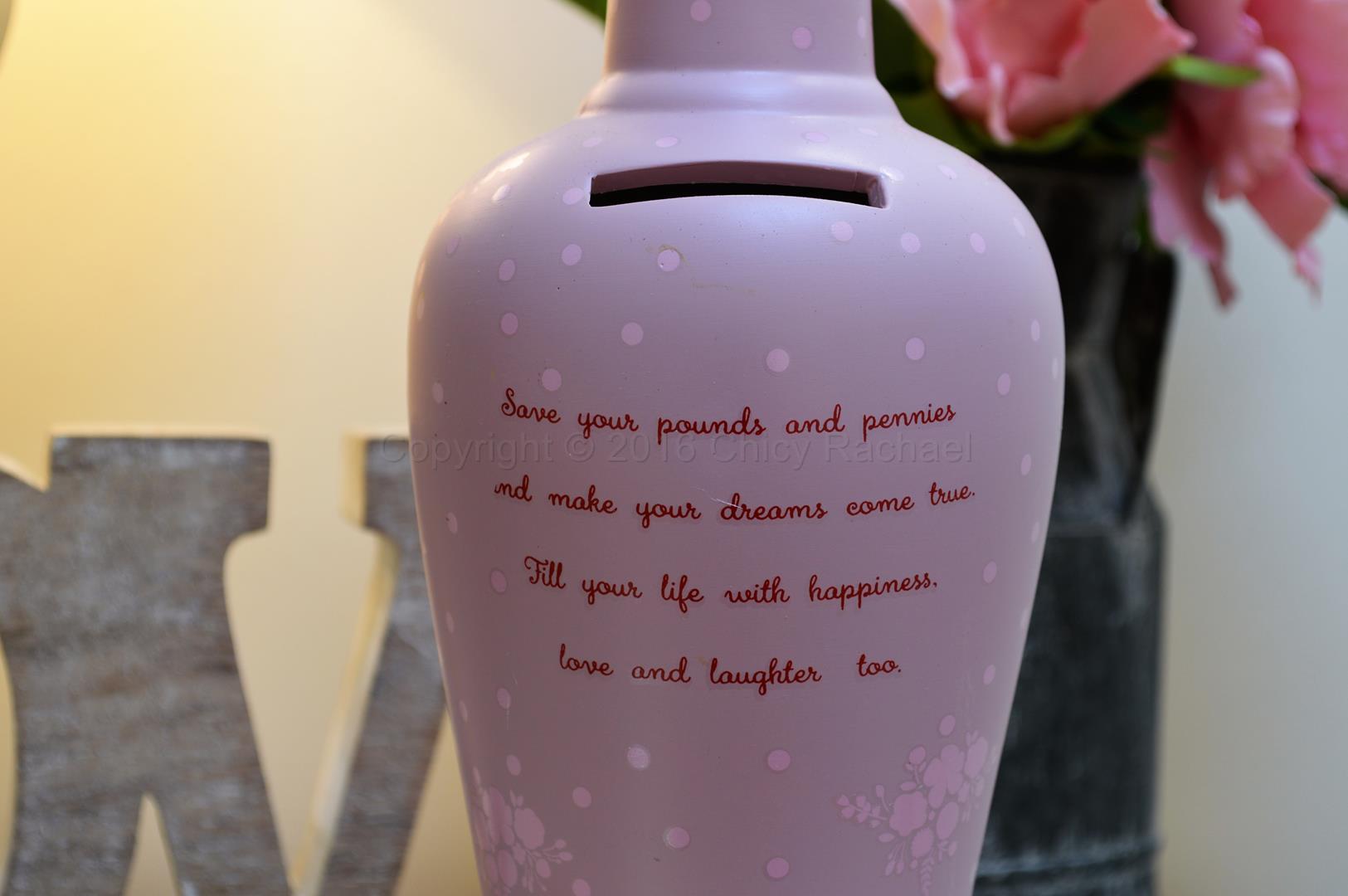 Live Laugh Save Savings Bottle