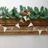 Gold And White Merry Christmas Flag Bunting