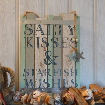 Salty Kisses And Starfish Wishes Sign