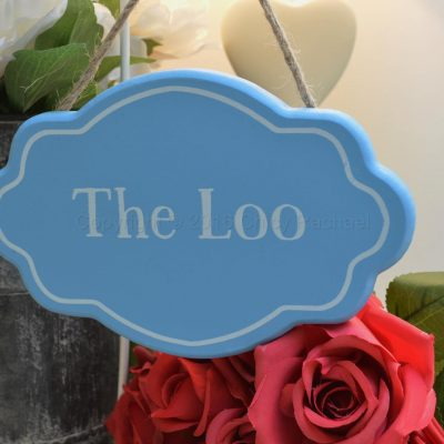 The Loo Blue Wooden Hanging Sign