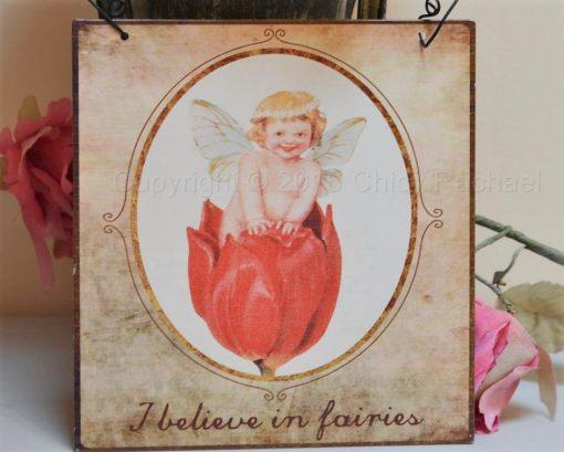 I Believe In Fairies Vintage Metal Sign