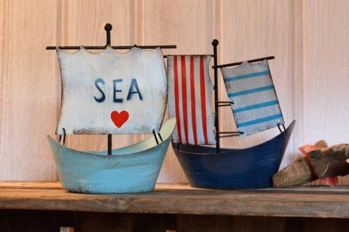 Metal Sea Boat Tea Light Holder