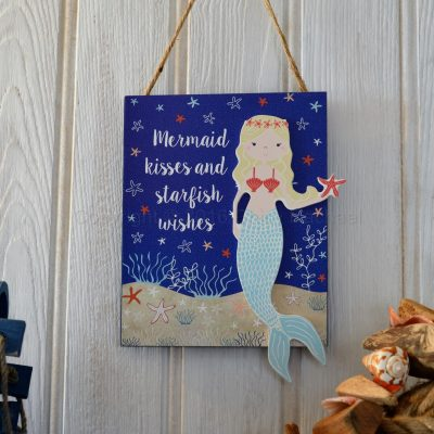 Mermaid Kisses And Starfish Wishes Sign