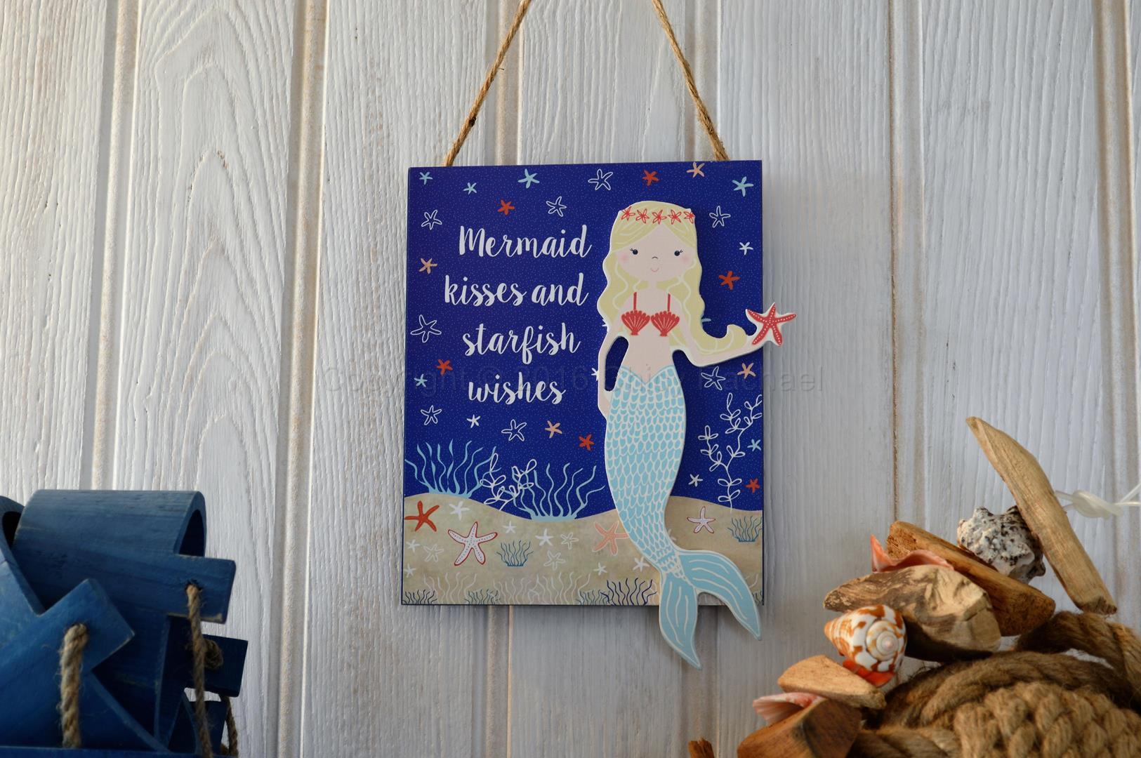Mermaid Kisses And Starfish Wishes Sign
