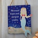 Mermaid Kisses And Starfish Wishes Sign 1