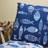 Funky Fish Blue Cushion