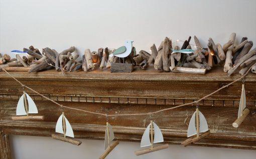 Sail Boat Driftwood Garland