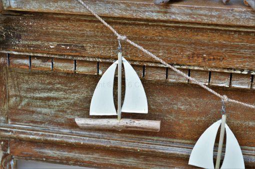 Sail Boat Driftwood Garland 1