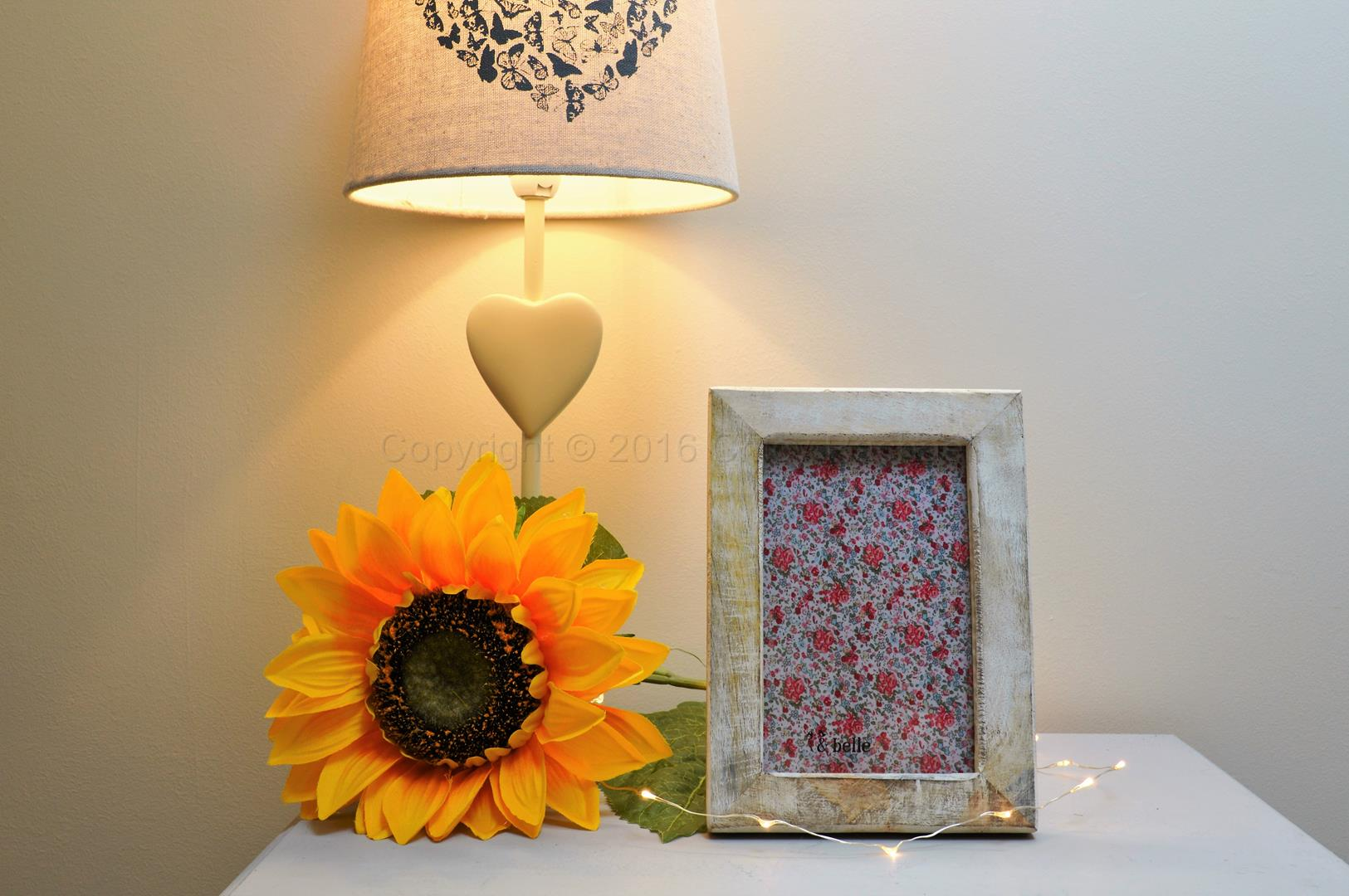 Small White Washed Wooden Picture Frame