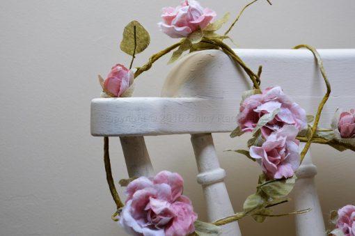 Light Pink Rose Flower Garland 1