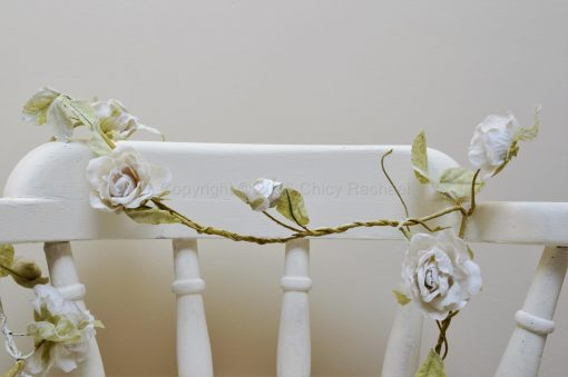 Cream Rose Flower Long Garland