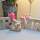 Mr & Mrs Wooden Letters 1
