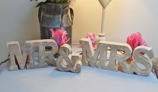 Mr & Mrs Wooden Letters 1