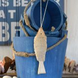 Wooden Hanging Fish Decoration
