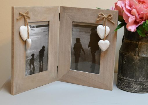 Double Wooden Picture Frame