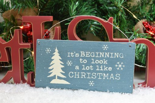 It's Beginning To Look A Lot Like Christmas Mini Sign 2