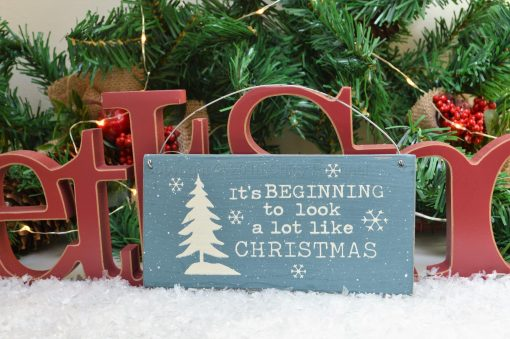 It's Beginning To Look A Lot Like Christmas Mini Sign