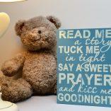 Blue Baby Prayer Sign