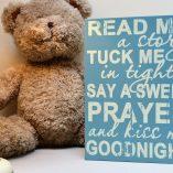 Blue Baby Prayer Sign 2