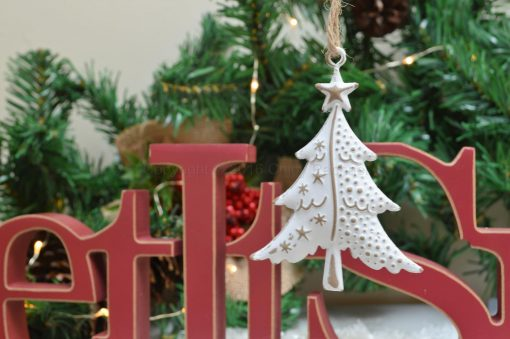 Snowy White Christmas Tree Decoration 2