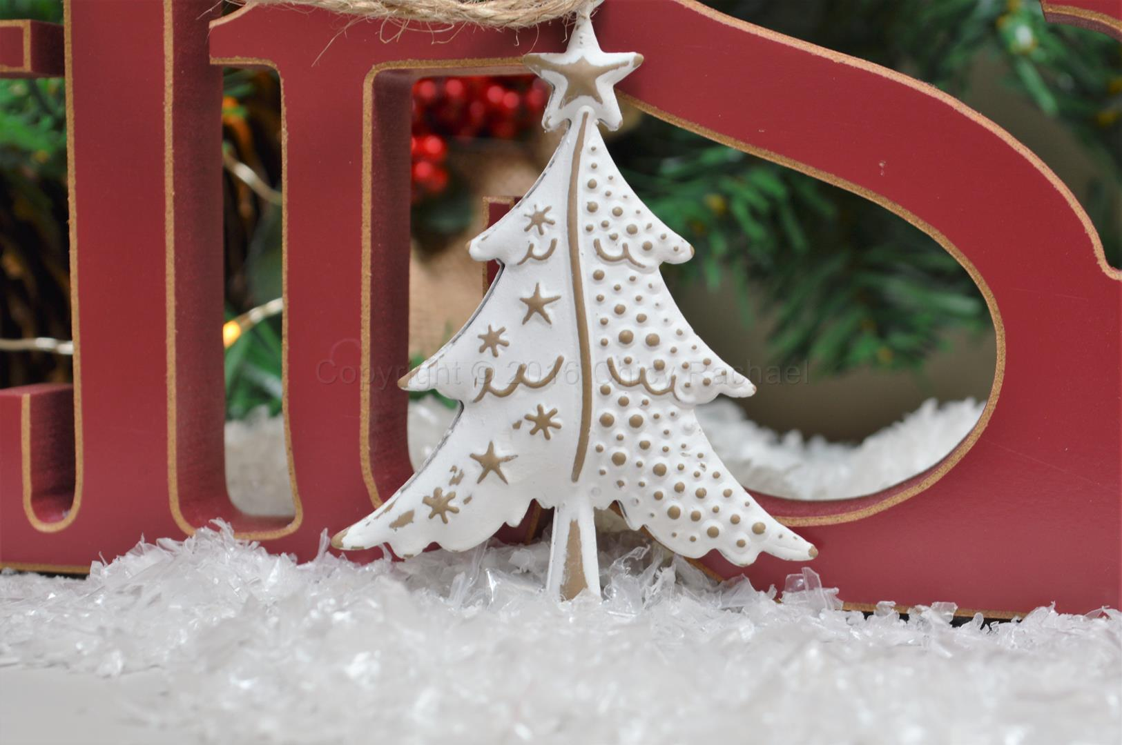 Snowy White Christmas Tree Decoration