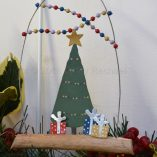 Festive Christmas Tree On Driftwood Decoration 2