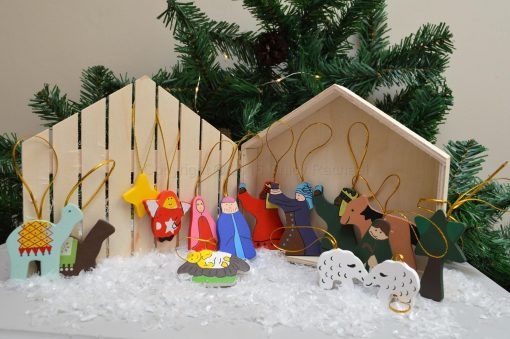 Wooden Nativity Set In Presentation Box 2